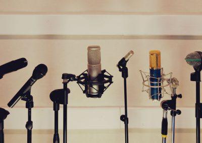 Микрофони от звукозаписното студио
