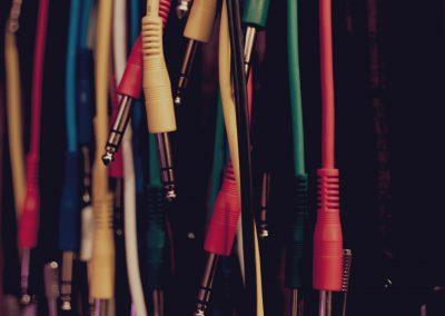 Monton de cables TRS de Patchbay